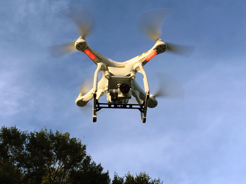 drone in the sky for Aerial shoot